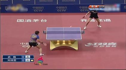 中国乒乓球超级联赛 最强攻防对决 削球武杨vs机关枪刘诗雯
