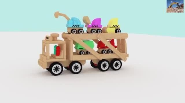 儿童玩具挖掘机挖土视频 挖掘机工作表演大全 大卡车视频