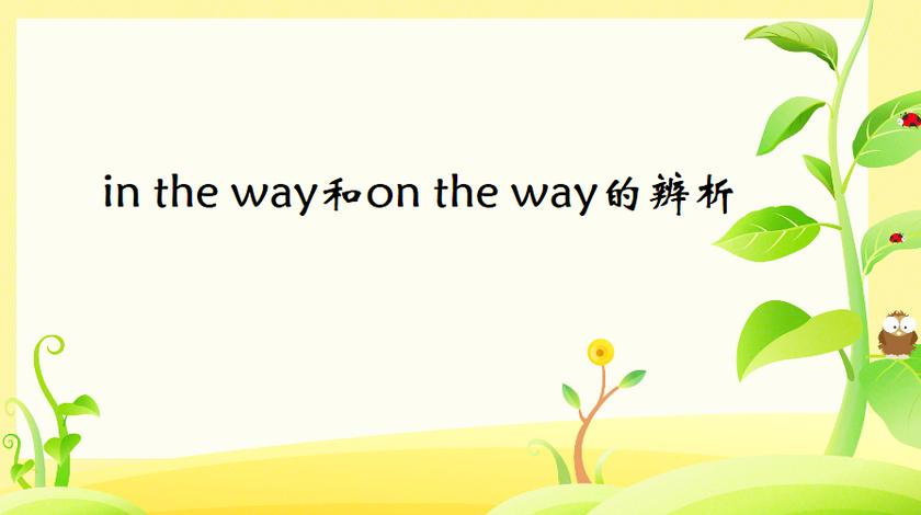 in the way和on the way有哪些不同