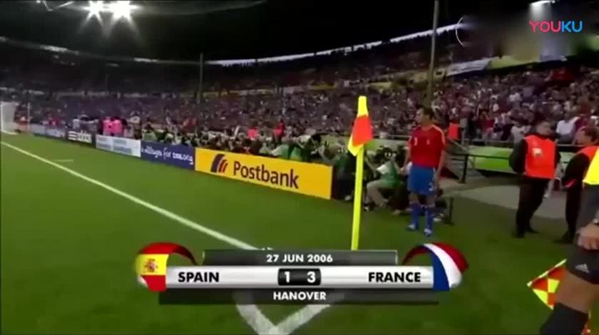 齐达内在世界杯上的最后一舞,西班牙众将彻底被踢哭,齐祖太秀!