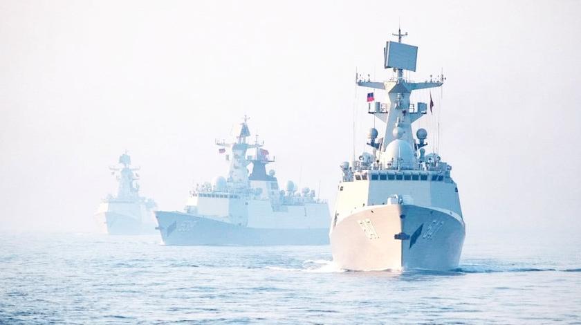 紧要关头,中俄军队同时出动抗击霸权,警告一切潜在邪恶势力