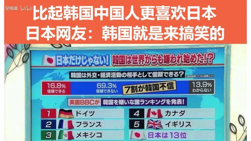 日本网友发帖:为什么相比韩国中国人更喜欢日本?