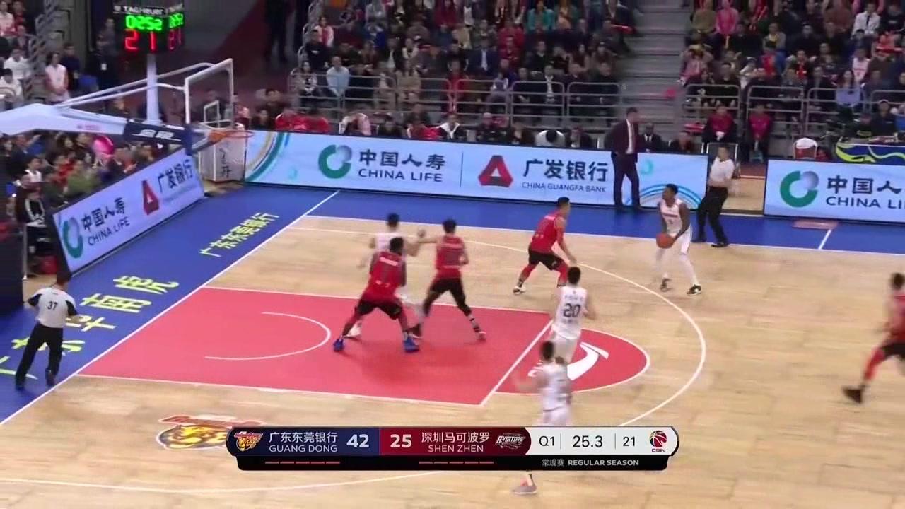 CBA-马尚VS深圳-全场砍下34+4+2,8记三分击沉领航者